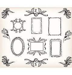 frames and borders vector image vector image