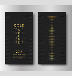 gold sound flyer vector image