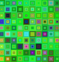 Green color square mosaic background vector
