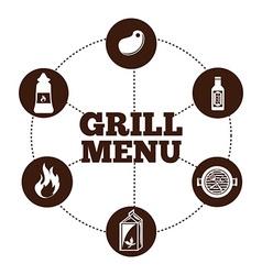 grill menu vector image