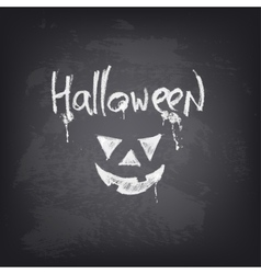 Halloween text design on chalkboard vector
