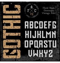 Handmade retro font vector
