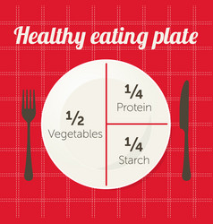 healthy eating plate diagram vector image