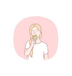 healthy eating vegetarian and vegan food fruits vector image