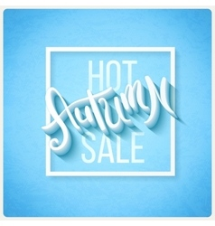 Hot autumn sale vector image