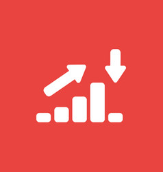 icon concept of sales bar graph moving up and vector image