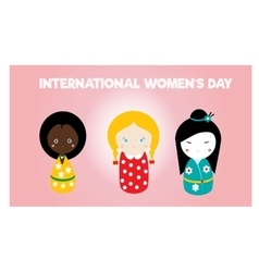 International womens day card vector image