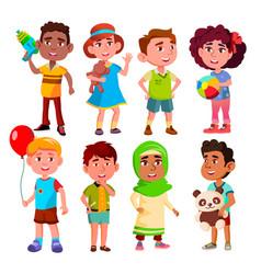 kinder multinational kinder child person vector image