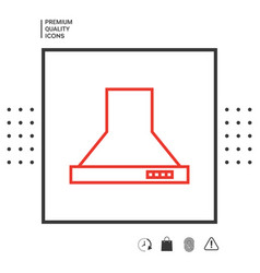 kitchen hood linear icon vector image