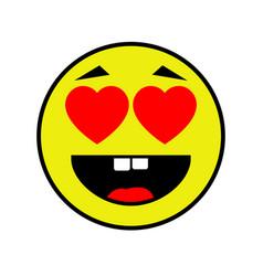 loving smiley on white background vector image