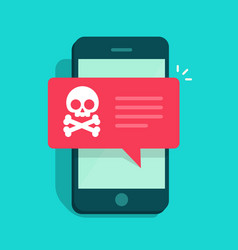 malware notification on smartphone concept vector image vector image