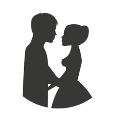 Married couple isolated icon design vector