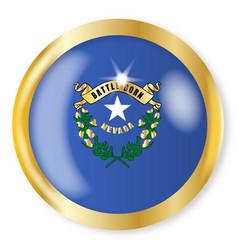 Nevada flag button vector