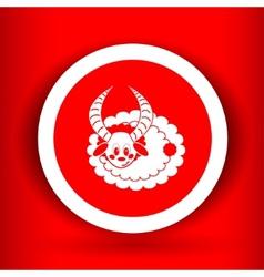 Nice sheep icon vector