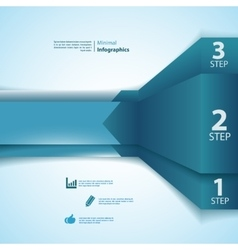 One two three info-graphics ribbons vector image