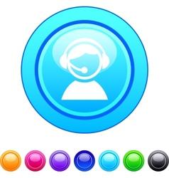 Operator circle button vector