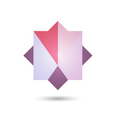 polygonal geometric figurefor web design vector image