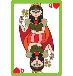 Queen hearts vector