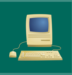 retro computer item classic antique technology vector image