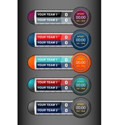 Scoreboard sport timer vector