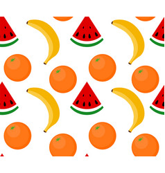 seamless background fruit watermelon banana vector image