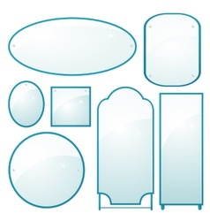 set of mirrors of different shapes vector image