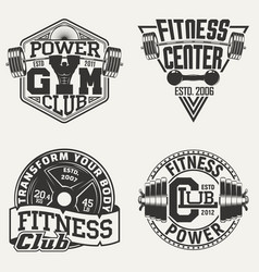 set of vintage emblems vector image