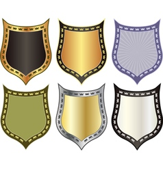 shield with crowns vector image