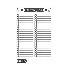 Shopping list template vector