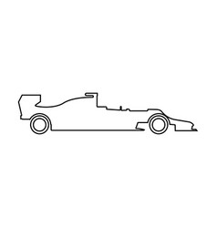 silhouette of a racing car icon vector image