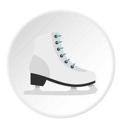 skates icon circle vector image