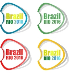 Stickers set Brazil Rio Summer Games 2016 vector image vector image