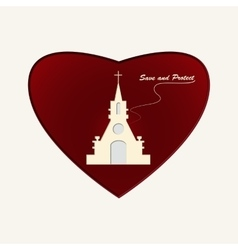 Temple of God in Heart vector image vector image