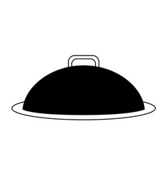 tray or covered platter icon image vector image