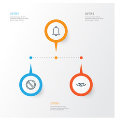 web icons set collection of glance obstacle vector image