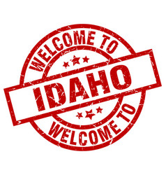 welcome to idaho red stamp vector image