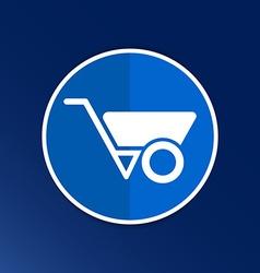 wheelbarrow icon button logo symbol concept vector image