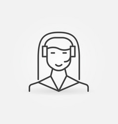 woman call center outline icon customer vector image