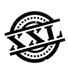 Xxl rubber stamp vector
