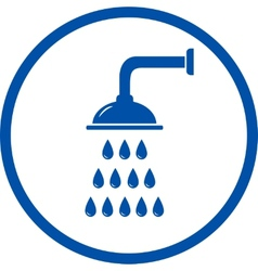 blue sign with shower head vector image vector image