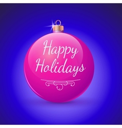 Christmas ball red decoration vector image