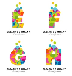 Creative Alphabet Letters Logo vector image