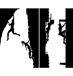 Free climbers vector image