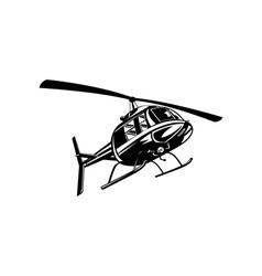 Helicopter chopper retro vector