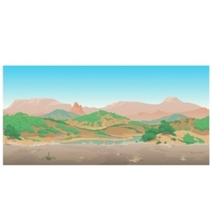 Landscape of wild West Scene creative vector image