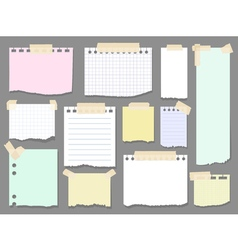 Paper torn page notes Blank notepad pages with vector image vector image