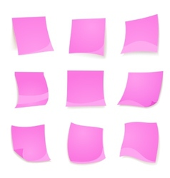 pink stick note isolated on white background vector image