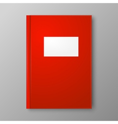 Red Book on gray background vector image