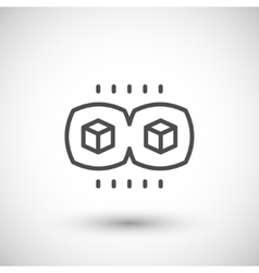Virtual reality view line icon vector image