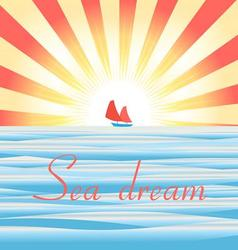 Beautiful of sea landscape wit vector image vector image